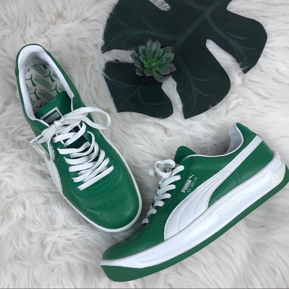 best website b51e2 ae319 Puma GV Special sneakers size 10 green white